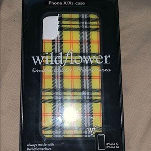 Yellow Plaid IPhone X/XS Wildflower Case